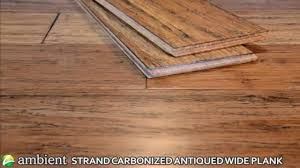 ambient strand carbonized antiqued wide plank bamboo flooring