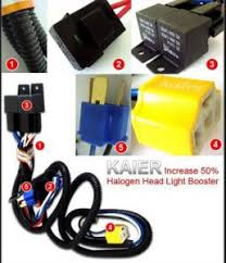 wts h4 relay kit ceramic socket headl booster