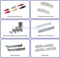 manufacture 100 pair krone lsa plus mdf distribution protector