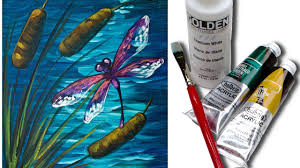 3584 Best Color And Paint by Dragonfly Pond Easy Beginner Acrylic Painting Tutorial