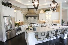 architecture elegant kitchen design with pendant lighting and