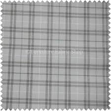 Black And White Check Upholstery Fabric Tartan Checked Pattern In White Grey Colours Chenille Upholstery