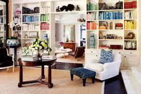 hand painted bookshelves transitional living room living room