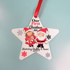 christmas tree decoration first xmas family personalised 1st