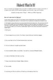5th grade reading worksheets reading comprehension dialects