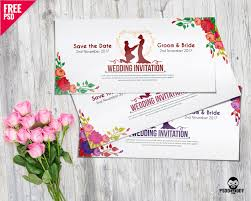 Wedding Invitation Cards Download Free Download Wedding Invitation Card Psd Mockup Psddaddy Com