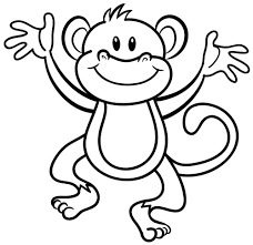 coloring page of a monkey coloring page for kids