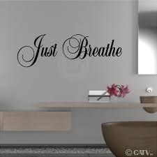Just Home Decor by Amazon Com Just Breathe M Wall Saying Vinyl Lettering Home