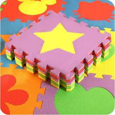 tappeti puzzle bambini 10 pz set bambini tappeto stuoie schiuma tappeti puzzle per