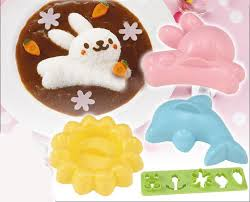 bunny mold dolphin bunny and flower rice mold set for your bento dinner