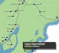 map of calumet michigan copper range railroad end cc maps torch