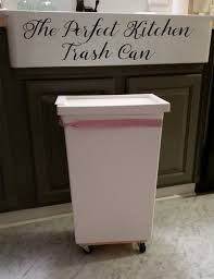 rolling trash can white tulip designs