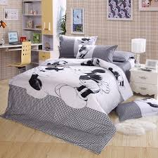 black and white king size mickey and minnie mouse bedding
