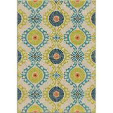 Medallion Outdoor Rug Medallion Multi Colored Outdoor Rugs Rugs The Home Depot