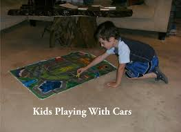 playing with toy cars through the different stages of child