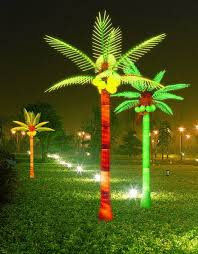 lighted palm tree decoration iron