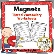magnets tiered vocabulary worksheets