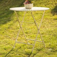 Iron Bistro Table Glitzhome Outdoor Folding Metal Iron Bistro Table Reviews Wayfair