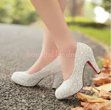 wedding shoes chunky heel 2014 high heel shoes white lace chunky heels wedding shoes