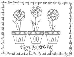 coloring pages mothers day flowers imagesicon
