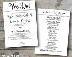 printed wedding programs rustic wedding invitation set burlap wedding invitation