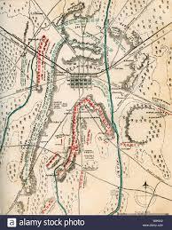Map Of Pennsylvania Map Of The Battle Of Gettysburg Pennsylvania 1 3 July 1863 Stock