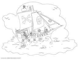 coloriages coloriage d u0027un bateau pirate fr hellokids com