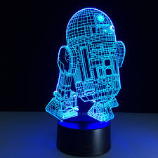 wars droid r2d2 light children room bedroom decorative