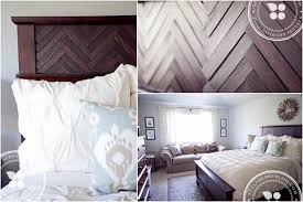 Wood Headboard Diy Silver Sage U0026 A Diy Herringbone Headboard Styleberry Blog