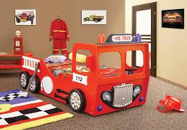 chambre enfant pompier lit voiture pas cher