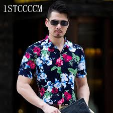 Mens Luxury Designer Clothes - men casual short sleeve shirt male hawaiian shirt floral chemise