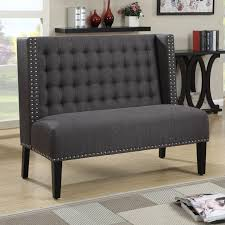 Sette Bench Bench Awesome Dining Room Settee Image Of Tufted Shaped In Curved