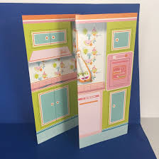 barbie learns to cook kitchen backdrop diorama vintage