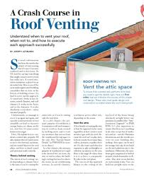 Half Round Dormer Roof Vents by Pa 1101 A Crash Course In Roof Venting Building Science Corporation
