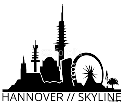 hannover skyline silhouette wall sticker wall stickers hannover skyline silhouette wall sticker