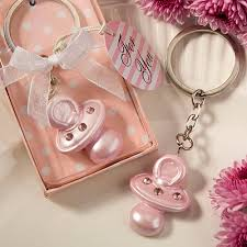 baby shower keychain favors it s a girl pink pacifier keychain favor unique baby shower