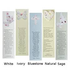 memorial bookmarks plantable memorial bookmarks cast paper