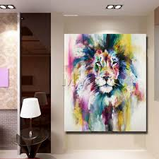 Home Interior Lion Picture Aliexpress Com Buy Abstract Lion Oil Painting Decor Home Room