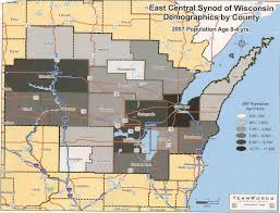 Wisconsin Map Of Counties by About The Ecsw East Central Synod Of Wisconsin East Central