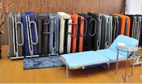 Tempat Tidur Besi Lipat mobile lipat manual rumah sakit tempat tidur untuk orang orang