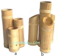 Bamboo Wall Vase Wooden Vase Has Any Carve Also Wooden Vase Burn Surface With