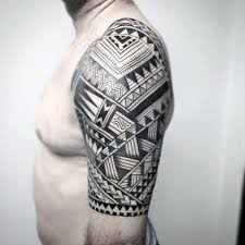 Badass Tribal Sleeve - 50 badass tribal tattoos for manly design ideas