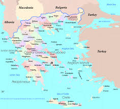 California Map With Cities Map Of Greece With Cities And Islands You Can See A Map Of Many
