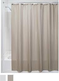 Fabric Shower Curtain With Window Interdesign Satin Stripe Soft Fabric Shower Curtain