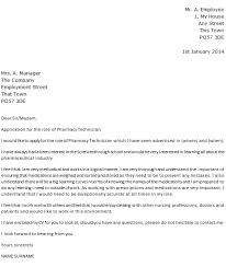 pharmacy technician cover letter articleezinedirectory