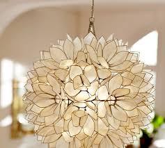 Flower Pendant Light Capiz Pendant Pottery Barn