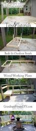 outdoor bench for our deck diy wood working project tutorial