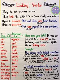 linking verbs anchor chart for anchors away monday includes a
