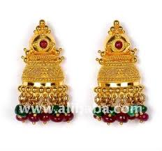 antique gold jhumka earrings antique gold earrings buy gold jhumka earrings product on
