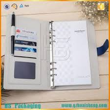business card notebook personalised pu leather notebooks with pen holder and business